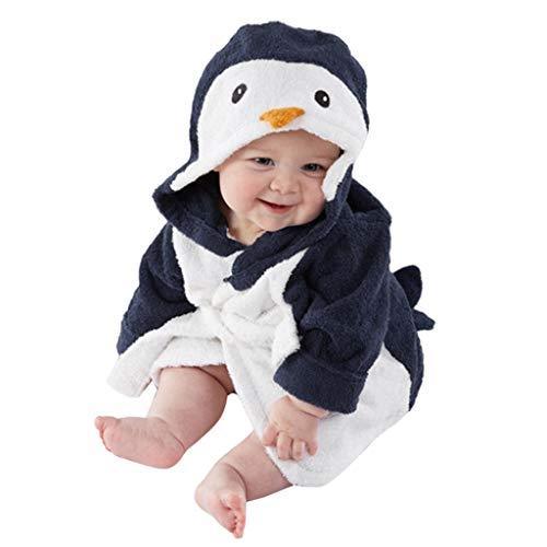 Snakell Baby Pinguin Badetuch Kapuzenhandtuch Babyhandtuch Bio-Bambus Kapuzenbadetuch Baby Duschtücher saugfähig Bademantel niedliches Handtuch für Neugeborene Jungen Mädchen