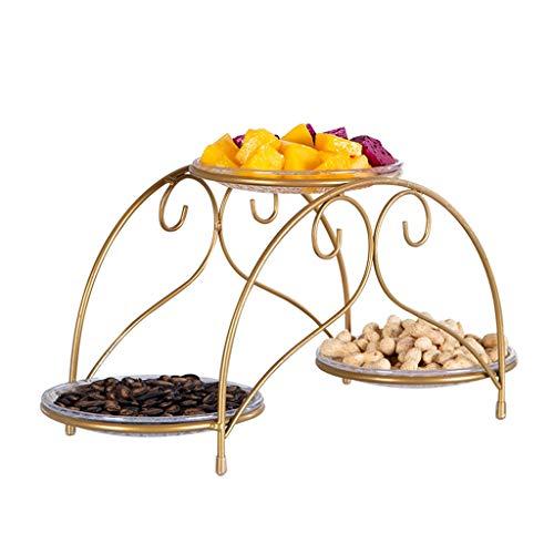 CSQ Plaque Plaque de biscuit d'hôtel, plat de pâtes 40.5 * 15 * 18CM de pâtes de salade de fruit et de légume de support de gâteau de présentoir de pâtisserie en métal de sucrerie Poids léger