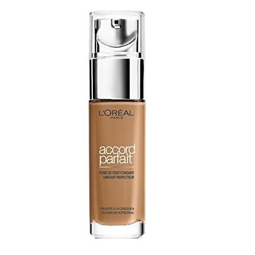 L'Oréal Paris Make-Up Designer Accord Parfait - 7.D/7.W Golden Amber - Foundation base de maquillaje Frasco dispensador Líquido - Base de maquillaje