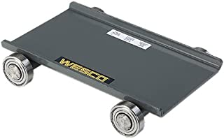 "Wesco Industrial Products 480020 Steel Deck Machine Dolly, 10,000-lb. Capacity, 8.5"" x 11.75"" x 2.5"""