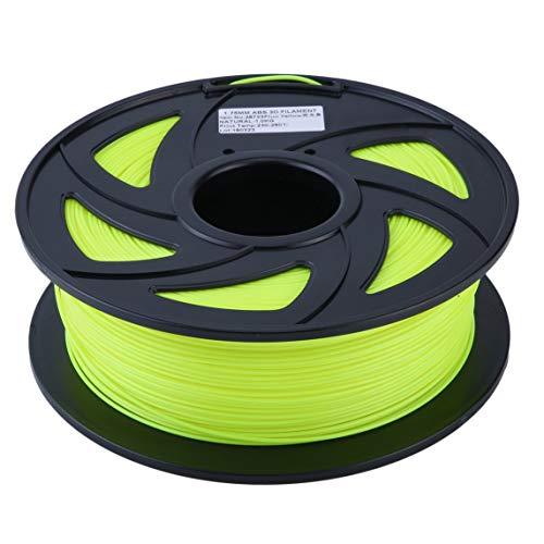 BiaBai Premium ABS 1,75 mm Filament 3D-Drucker Druckmaterialzubehör Rolle 1 kg Geeignet für die meisten 3D-Drucker 1 kg