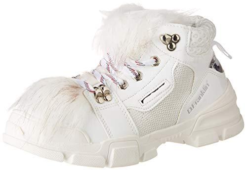 D. Franklin Treckton, Zapatillas Mujer, Blanco (Blanco 0001), 41 EU