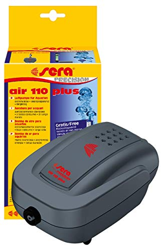 sera 08812 air 110 plus - Luftpumpe für Aquarien 110 l/h bei 3 Watt - extrem leise, energiesparend, langlebig