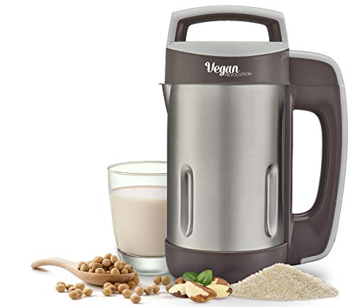 Vegan Milk Machine Vegan Revolution make milk from grains seeds or nuts almonds soybean coconuts rice easy to use stainless steel blade