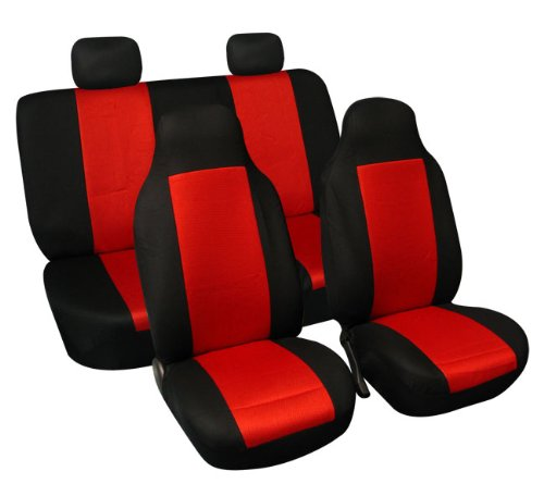 FH Group FB102RED114 Red 3D Air Mesh Auto Seat Cover (Full Set)