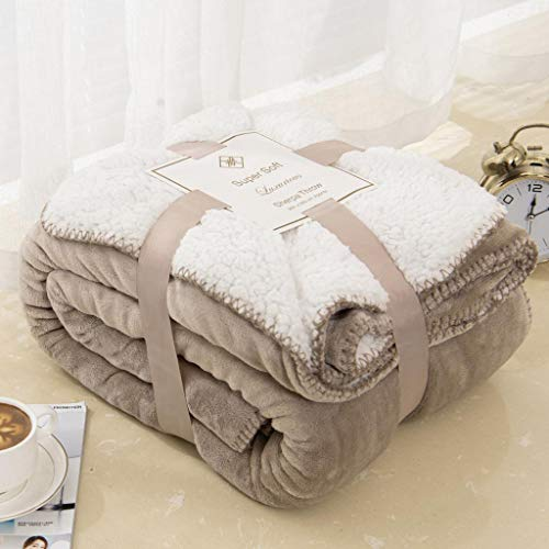 Sherpa Dual Sided Blanket Plush ...