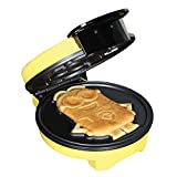 Minions Waffle Maker - Electric Waffle Iron Kitchen Appliance -'Dave' Yellow