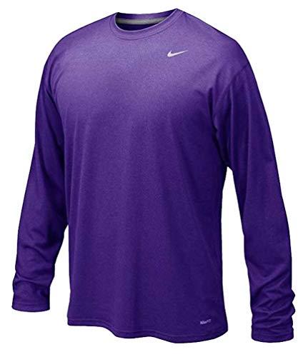 NIKE Men's Legend Long Sleeve Performance Shirt (Purple, Medium)