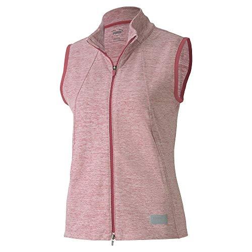 PUMA Golf Women's 2020 Cloudspun Warm Up Vest Sin mangas, Vino Rosa Heather, L para Mujer