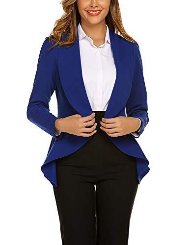 Unibelle Blazer Damen Cardigan Tailliert Elegant Casual Jacke Blazer Slim Fit Anzug Trenchcoat S
