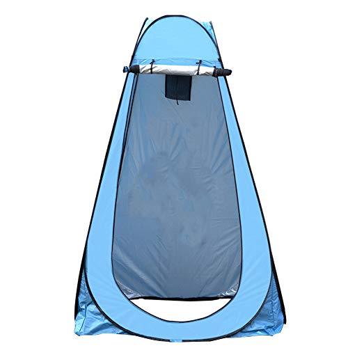Tenda Pop-up per La Privacy, Tenda da Doccia Portatile Istantanea per Esterni, Campeggio, WC, Spogliatoio, 180T Poliestere Rivestito in PU, Pieghevole (Blu con 2 Finestre)