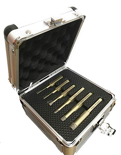 Pulsar High Performance Diamond Tile Dry Drill Bit Set for Porcelain Ceramics and Natural Stone 5mm 6mm 7mm 8mm 10mm and 12mm Set