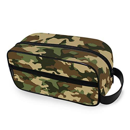 CPYang Trousse de toilette de voyage - Imprimé camouflage militaire - Portable - Trousse de maquillage pour homme et femme