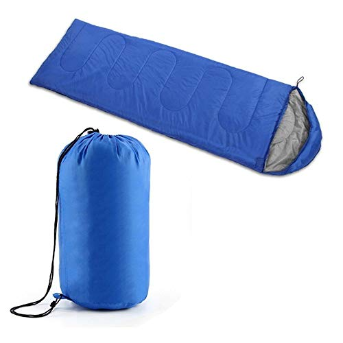 Hi8 Ranger facile à transporter chaud Adulte Sac de couchage Sports de plein air Camping Randonnée avec sac de transport, bleu