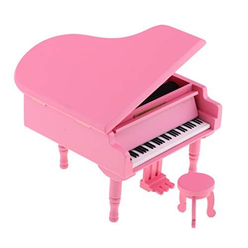 P Prettyia Caja de Música de Madera Rosa Mecanismo Caja de Música...