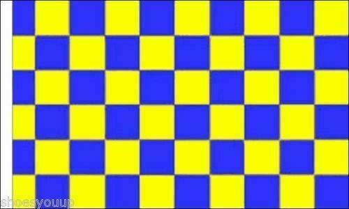FlagSuperstore© Bootsflagge blau & gelb kariert, 45,7 x 30,5 cm, Baumhäuser, Wohnwagen, Ärmel 45 x 30 cm, kariert