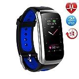 TwobeFit Fitness Armband mit Pulsmesser Fitness Tracker Smartwatch Blutdruckmesser Wasserdicht IP68...