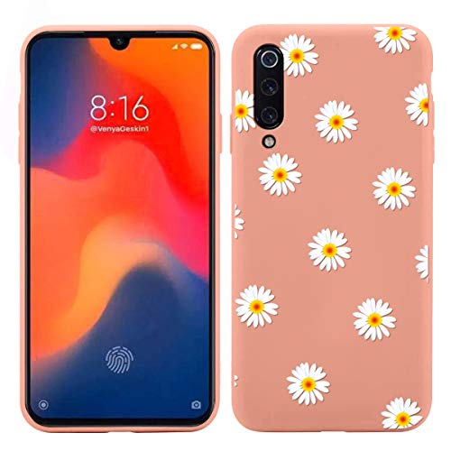 Pnakqil Funda para Xiaomi Redmi Note 9 (5G) 6,53 Pulgadas Silicona con Dibujos Carcasa Ultrafina y Ligero Diseño Gel TPU Suave Piel Case Antigolpes Bumper Protectora Back Cover Cases, Margarita 03