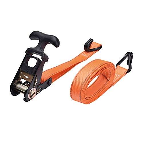 31mm x 6/8m Ratcheting J-Hook Tie-Down Strap - 1000Kg Break Strength for Cargo Moving (Color : Orange, Size : 31mmx8m)