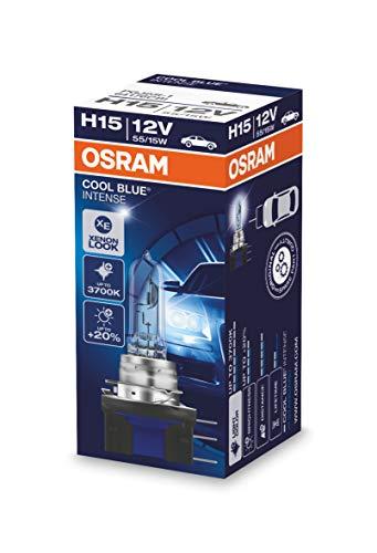COOL BLUE INTENSE H15 de OSRAM, lámpara para faros halógena, 64176CBI, automóvil de 12V, estuche (1 unidad)