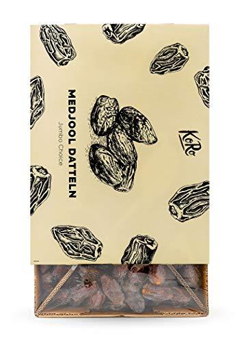 KoRo - Dattes Medjool Jumbo Choice - 5 kg - Mûries sous le soleil d'Israël - Particulièrement grosses - Goût caramel - Snack riche en fibres