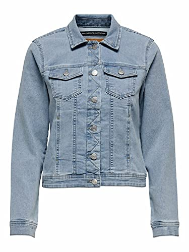 ONLY Damen ONLWONDER Life LS Jacket BB PIM009 Jeansjacke, Light Blue Denim, S
