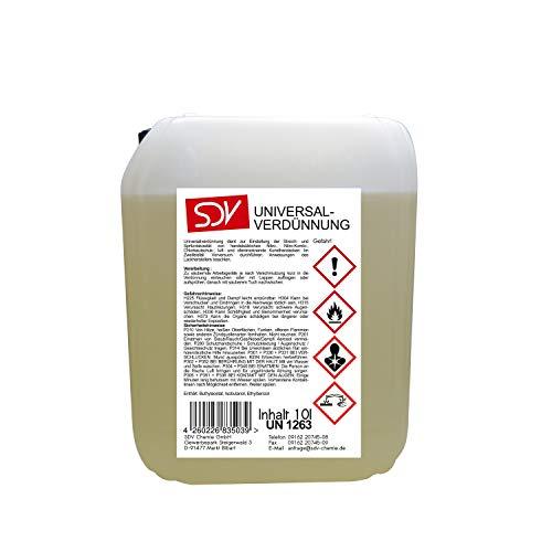SDV Chemie Universalverdünnung 1x 10 Liter 10L Nitroverdünnung Waschverdünnung Lackverdünner