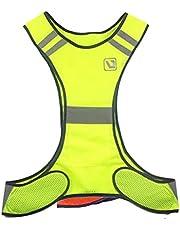 NewIncorrupt Reflectie Bliksem Fonkelend Waarschuwing Hardlopen Rijden Werkvest Mouwloos Shirt Nacht Bright Shining