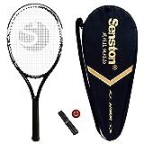 Senston Professional Full Carbon Adulto Raqueta de Tenis, Moldura de Una Pieza Raqueta Tenis para Mujeres/Hombres