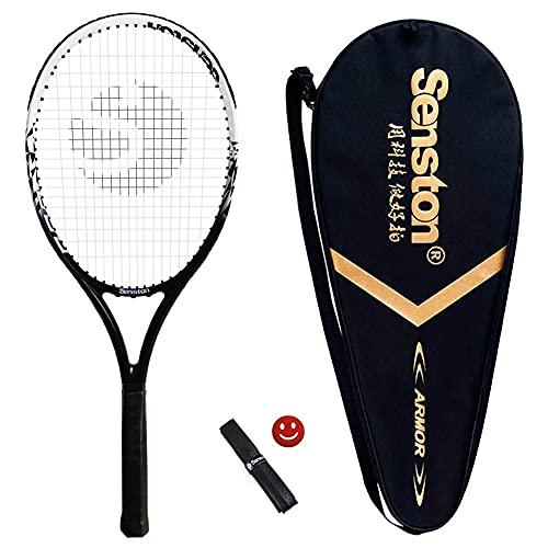 Senston Racchetta da Tennis per Adulti Full Carbon con Custodia di Trasporto Premium Set di Racchette da Tennis, Incluso 1 Overgrip + 1 Antivibranti