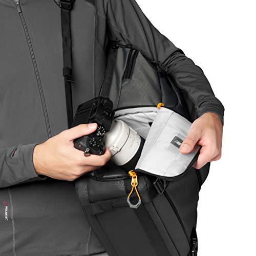 Lowepro Fastpack BP 250 AW III Kamerarucksack - Kameratasche / Fotorucksack für spiegellose und DSLR-Kameras wie Nikon D850, 300D, mit Zugang per QuickDoor, Fach für 13-Zoll-Laptop, Ripstop, Grau