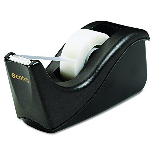 Scotch Desktop Tape Dispenser, Black Two-Tone, 1 Dispenser/Pack (C60-BK)