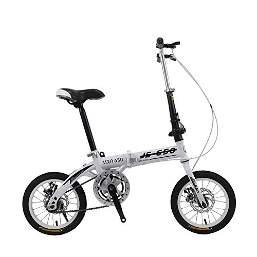 XXY Männer und Frauen tragbare Falten Fahrräder for Erwachsene, Kinder und Studenten, Fahrrad Mountainbikes 16 Inches (Color : Gray Single Speed, Size : 16 inch)