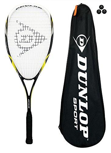 DUNLOP NANOMAX PRO Raqueta Para Squash De Titanio + 3 Pelotas De Squash