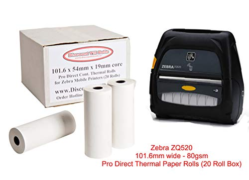 Zebra ZQ520thermique Rouleaux de papier (20Rouleau Box) blanc