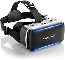 【DSLON VRゴーグル】VRヘッドセット VRヘッドマウントディスプレイ スマホ用 vrゴーグル PMMA非球面光学レンズ 1080PHD高画質 vrゴーグル 3Dメガネ 3D動画 VR動画 VRメガネ 超広角120°...