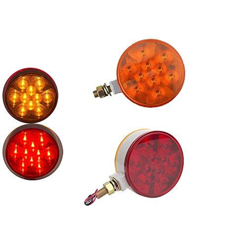 HEHEMM Lot de 10 feux de position latéraux à 20 LED pour camion remorque 10-30 V (Ambre) (Rouge et Ambre)