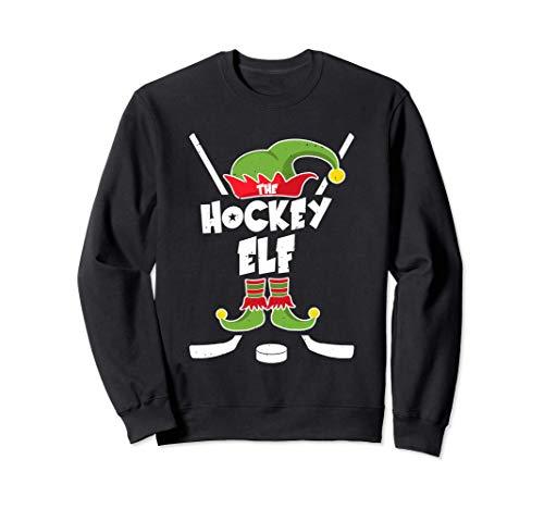 Ice Hockey Elf Geschenk Hockey Weihnachten Elfen Kostüm Sweatshirt