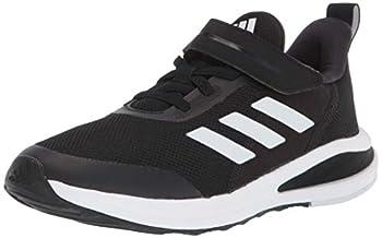 adidas Fortarun Elastic Running Shoe Black/Black/White 1 US Unisex Little Kid