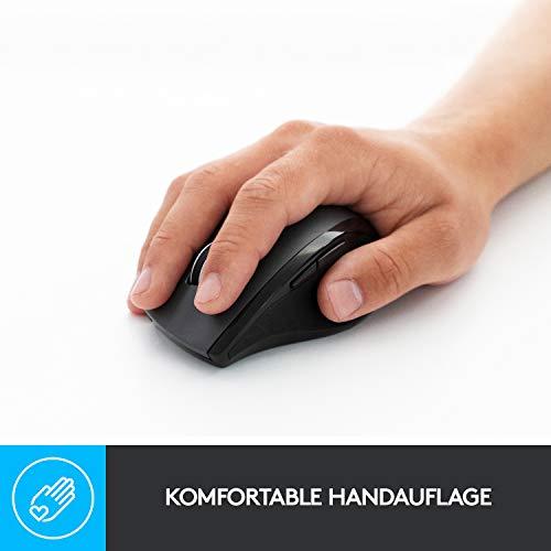 Logitech M705 Marathon Kabellose Maus, Umweltfreundliche-Verpackung, 2.4 GHz Verbindung via Unifying USB-Empfänger, 1000 DPI Laser-Sensor, 3-Jahre Akkulaufzeit, 7 Tasten, PC/Mac – Grau - 2