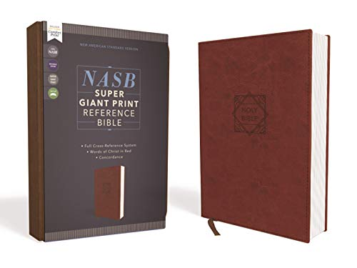 Compare Textbook Prices for NASB, Super Giant Print Reference Bible, Leathersoft, Brown, Red Letter, 1995 Text, Comfort Print Large type / Large print Edition ISBN 0025986455088 by Zondervan