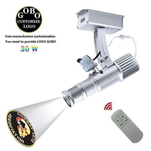 Aione 30W Wandleuchten Logo Bild Player Projektor Window Display Boutique GOBO Strahler automatischen drehbaren Und statische Funktionen 2700 lm mit Fernbedienung