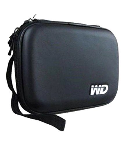 Wolfano Hard Disk Drive Case | Portable WD Shockproof Hard Disk Pouch | External Hard Disk Cover Pouch | Water Proof & Shock Proof Hard Disk Case for Seagate, Toshiba, WD, Sony & Transcend (2.5 inch, Black)
