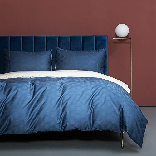 LIANGLIANG Baumwolle Satin einfarbig vierteiligen Anzug super weich nackt schlafen Stil Bettlaken Quilt leichte Bettwäsche