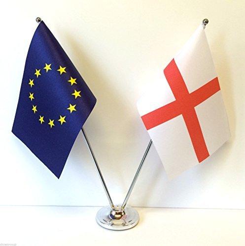 Unión europea UE y Diseño de banderas de England cromo y de escritorio juego de banderines