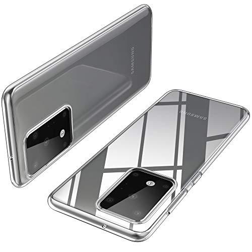 iBetter Diseño para Funda Samsung Galaxy S11+/S20 Ultra Funda, [Protección de cuatro ángulos]TPU con Superficie Mate Silicona Fundas para Samsung Galaxy S11+ / S11 plus/S20 Ultra.Transparente