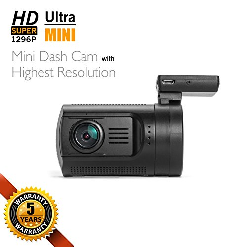 Dashboard Camera, SplashETech Mini 0806 Dash CamWorld's Smallest Dash Camera W/ Screen Amba A7LA50 +...