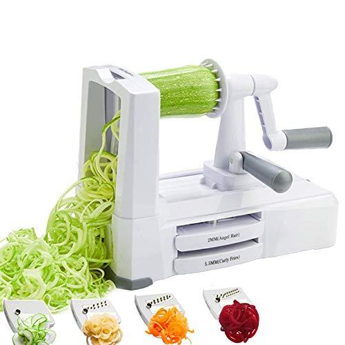 U-A Vegetable Spiralizer, Sboly Zucchini Spaghetti Maker with 5-Blade, Maker Veggie Pasta Maker, Vegetable Slicer Spiralizer for Vegetables, Food Spiralizer