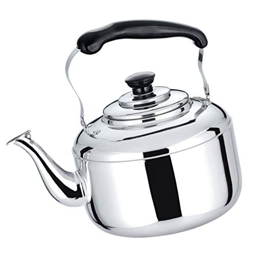 YARDWE Stainless Steel Stove Top Teakettle Whistling Tea Kettle Teapot Water Kettle Pot Water Handle Kettle Anti Hot Handle Tea Kettle for Stove Top Gas Induction Cooker 5l