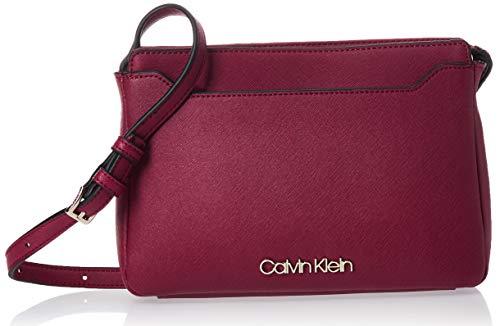 Calvin Klein Damen Worked Ew Xbody Umhängetasche, Rot (Tibetan Red), 4x12x24 centimeters